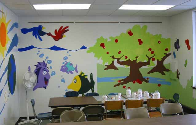 decorating a sunday school classroom white